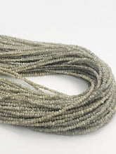 Natural Silver Diamond Chip Gemstone Beads, Full Strand, 16""