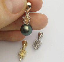 Pineapple Pearl Pendant Setting - Gold Vermeil / Sterling Silver - Made in Hawaii, Pendant