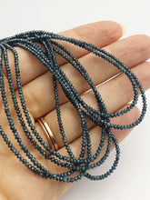 Blue Diamonds, Gemstone Beads, Full Strand, 15""