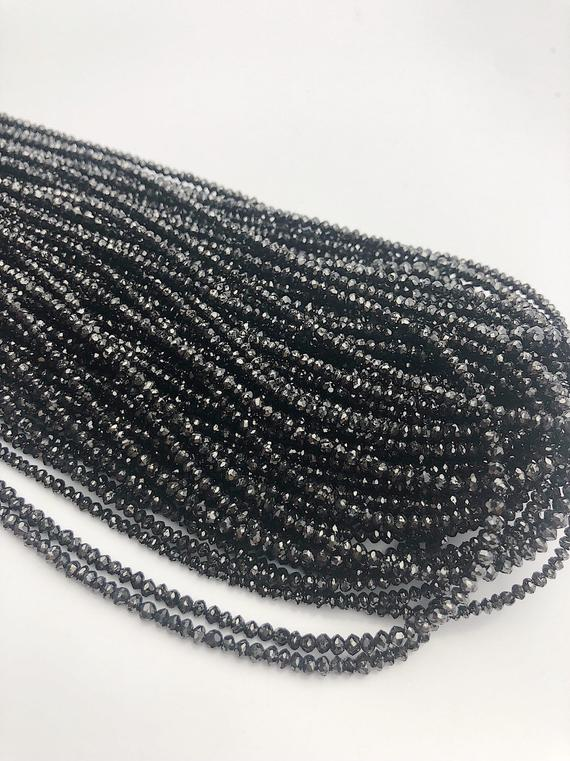 Black Diamonds, Gemstone Beads, Full Strand, 14