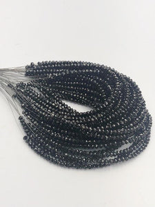 Black Diamonds, Gemstone Beads, Half Strand, 4.5""