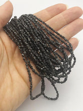 Rough Black Diamond Gemstone Beads, Full Strand, 16""