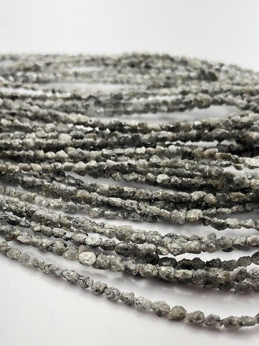 Rough Gray Diamond Gemstone Beads, Full Strand, 16