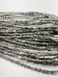 Rough Gray Diamond Gemstone Beads, Full Strand, 16""