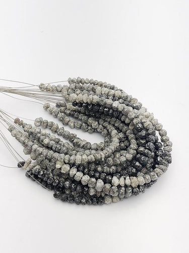 Rough Gray Diamonds, Gemstone Beads, Half Strand, 4.5