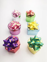"48 Pcs, Metallic Ring Box ""Hat Box"" Collection, 6 Colorways - 2489HB"