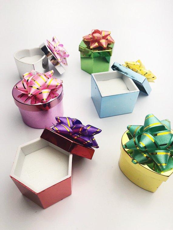 48 Pcs, Metallic Ring Box
