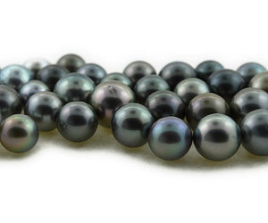 Tahitian Round Pearls - Limited amount - Light-Med. Dark color (RF 019)