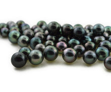 Round - Tahitian Pearls, AA1 Quality, Sizes 8 to 11mm (RF 025)