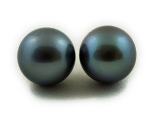 Tahitian pearls stud earrings 8mm 9mm 10mm (026)