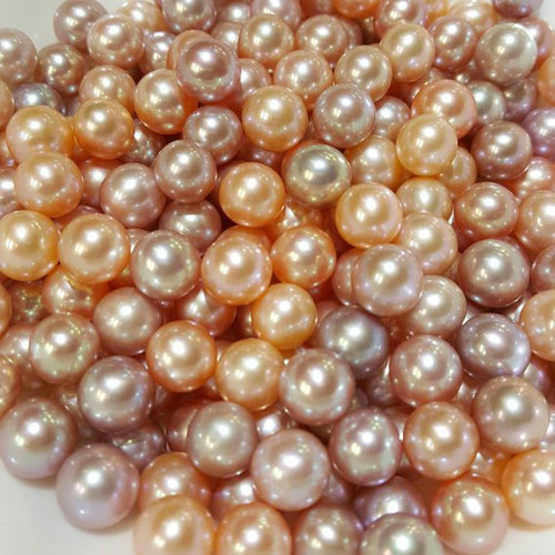 Edison 8mm to 13mm Pearls, Peach colors (115)
