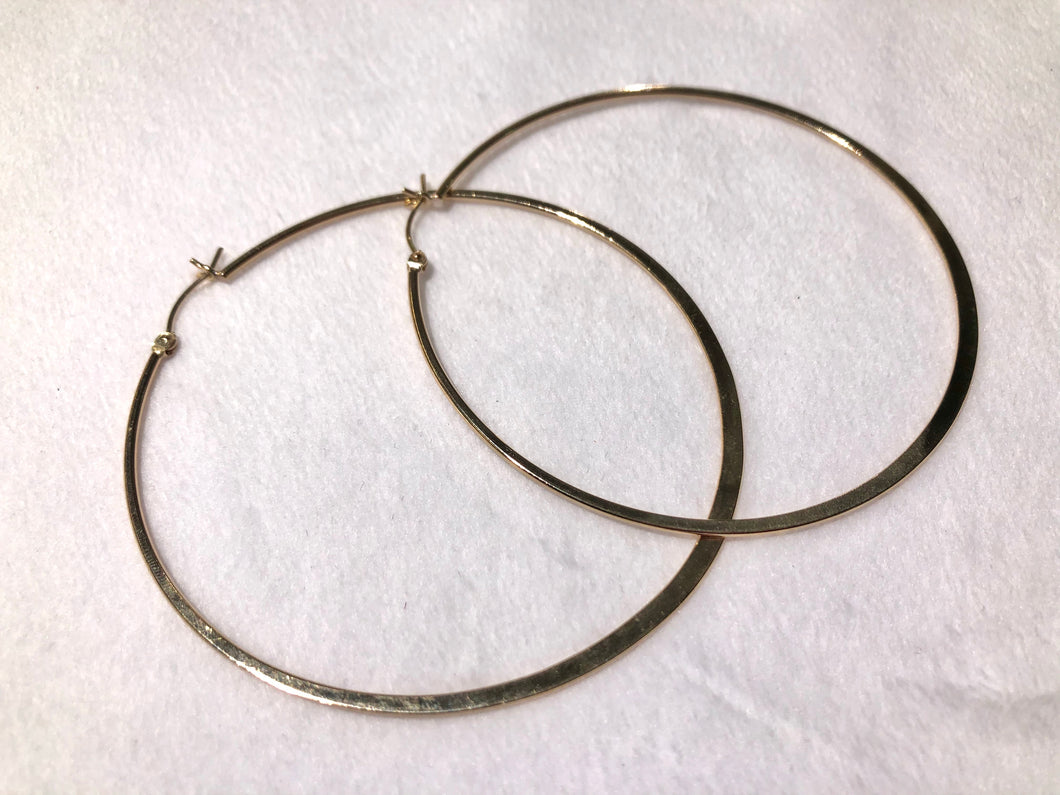 14KGF Hoop Earrings