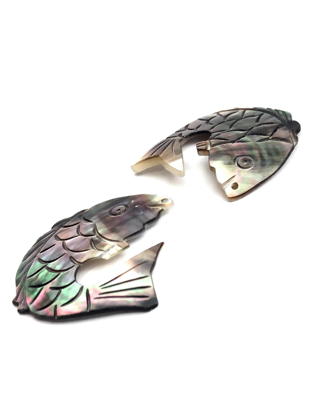 Black Tahitian Mother Of Pearl Fish Sku#M263
