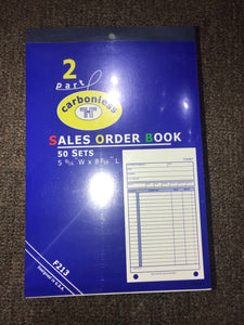2-Part Sales Order Books