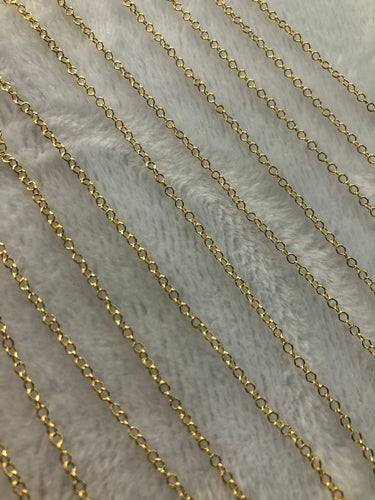 14K Gold-filled 1.5mm Cable Chain