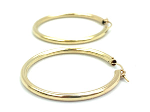 14KGF Hoop Earrings , Sku#200 C 3 GF