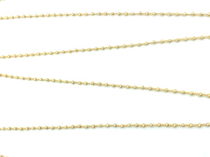 14KGF Satellite Chain 71 with beads .12m apart , Sku#SM1293