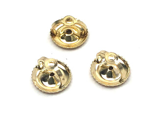14K solid yellow gold ear nut, SKU# 11-27-5