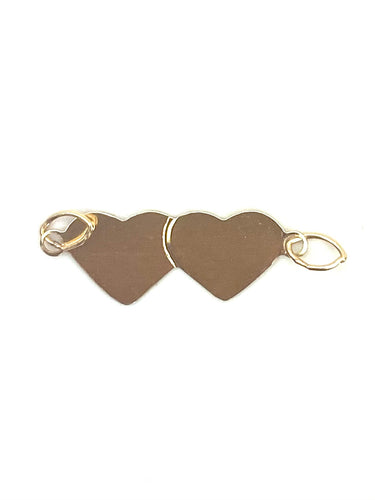 14K Solid Gold Double Heart, Sku#574.020C