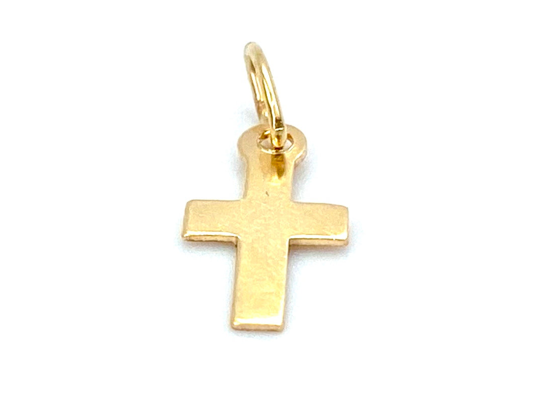 14KGF Cross Charm , Sku#21-C