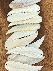 White South Sea Mother Of Pearl Leaf #5 Sku#M282