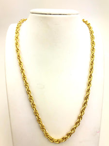 14KGF 4.4mm Double Rope Chain Sku#44R
