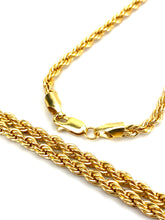 4mm French rope chain, 14KGF, 18 - 26 inch 14K gold filled chain, SKU# FR-4