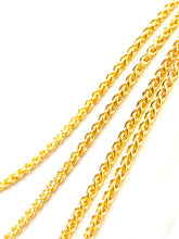 "18"" 20"" 22"" 24"" 14K Gold Filled Wheat Chain , Sku#SM473"