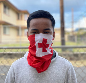 Tonga Flag Face Mask, Neck Gaiter, Scarf, etc.