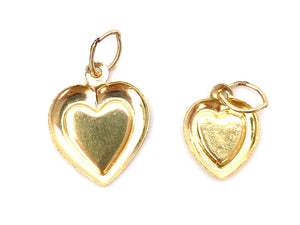 Big heart Charm Sku#106-C , Small Heart Charm Sku#357-C