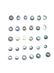 Tahitian mabe pearls natural color and super high luster imported from Tahiti , SKU# 070777