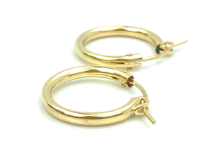 14KGf Hoop Earrings , Sku#090 C 0