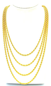 "14KGF Double Rope Chain 18"" 20"" 22"" 24"" , Sku#25R"