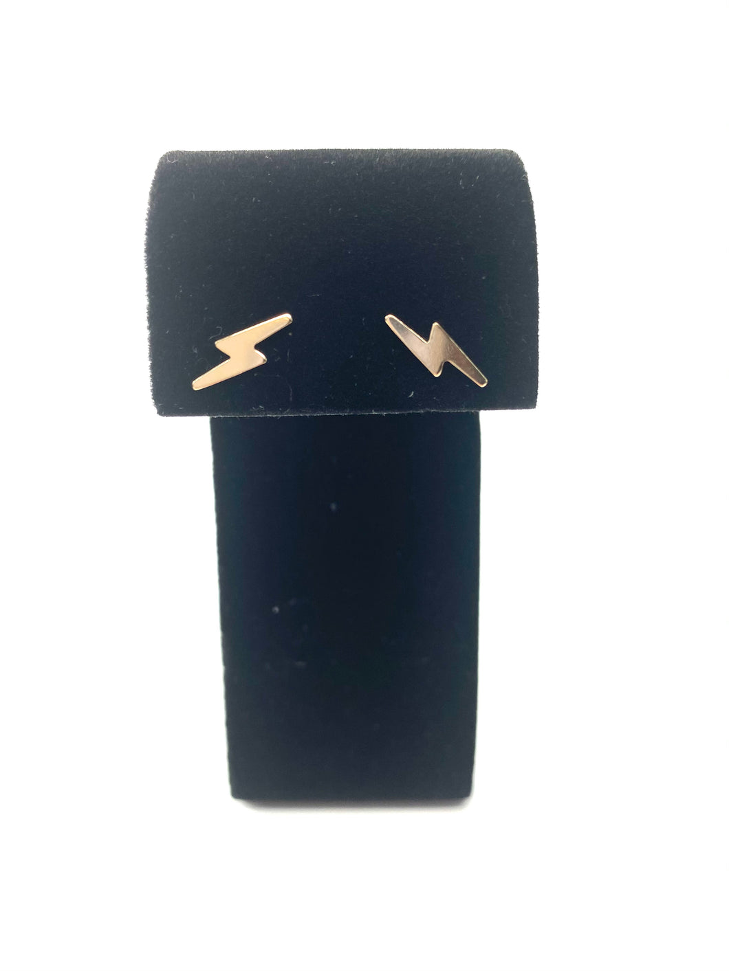 14KGF lightning bolt studs, 14K gold filled