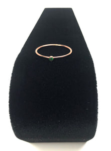 14kRGF 2mm Green Ring