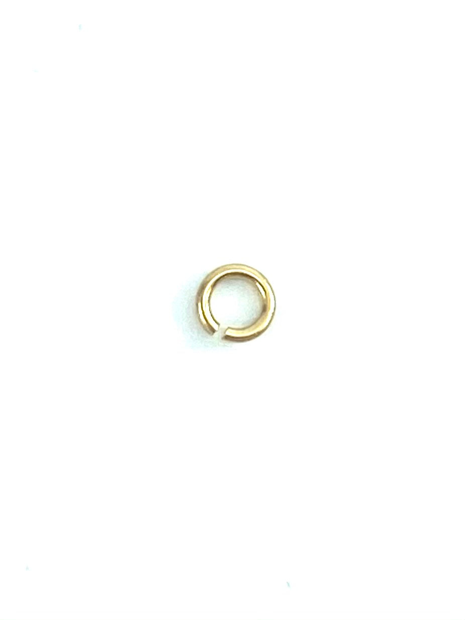 14K Solid Gold 3mm Jump Ring, Sku#11-41-2