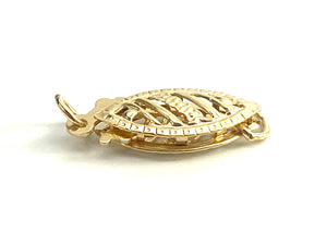 14K Solid Gold Clasp, Sku#11-17-824