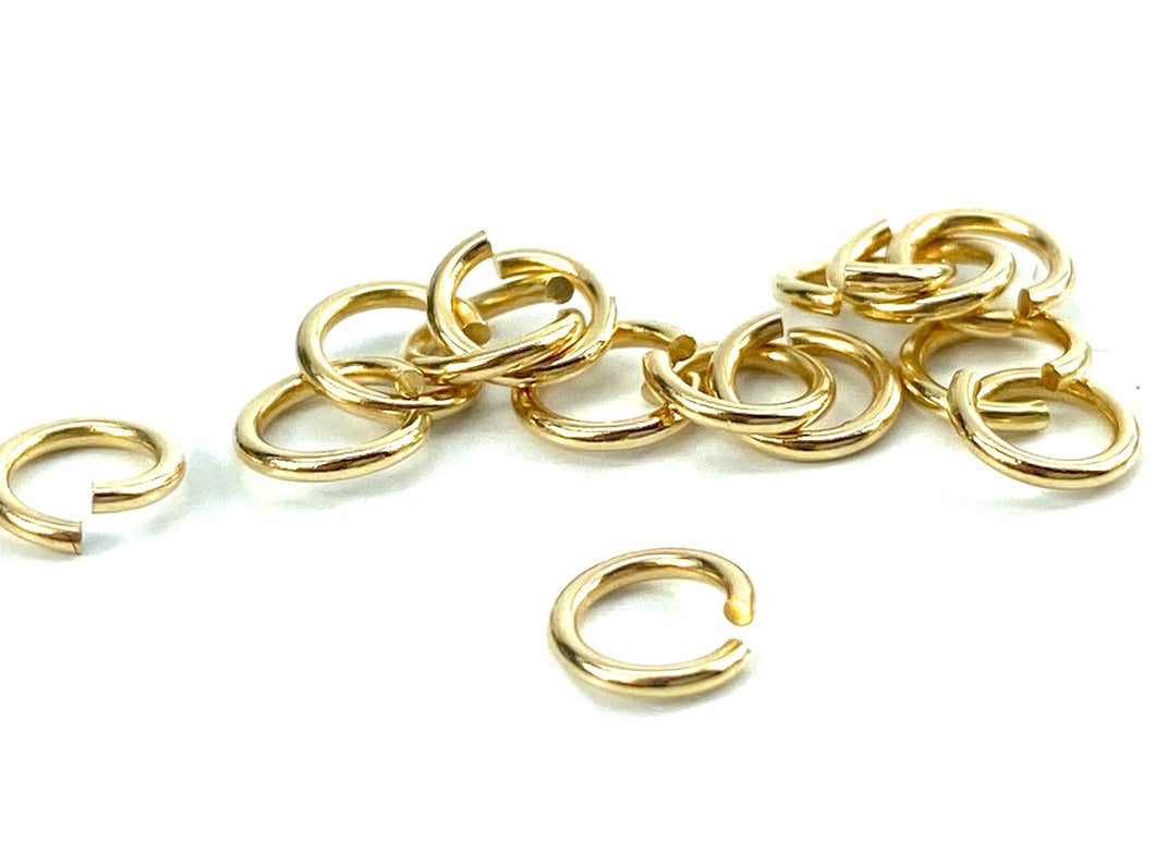 14K Solid Gold 5mm Jump Ring, Sku#1-41-2005
