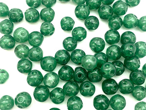 Nature Green Jade Beads , Sku#JP48