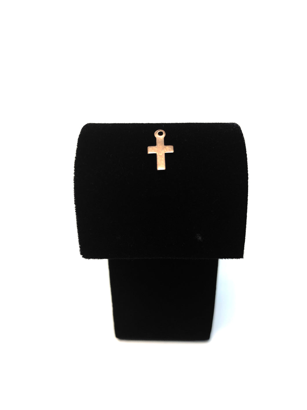 Small 14kGF Cross Charm