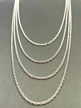 "Sterling Silver Double Rope Chain 18"" 20"" 22"" 24"" , Sku#15R"