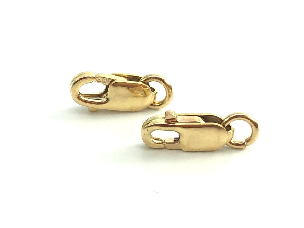 14K Yellow Gold Lobster Claw Clasp