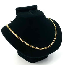 "14KGF 18"" 3mm Cuban Curb Chain, 14KGF, 14K Gold Filled, 14K Gold Fill, 14K Gold, Sku:S3309CHR-18"