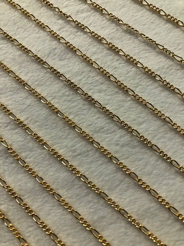 14K Gold-filled Figaro Chain