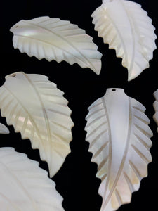 White South Sea Mother Of Pearl Leaf #6 Sku#M283