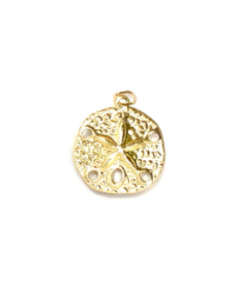 14KGF Circle Flower Pendant 743-C
