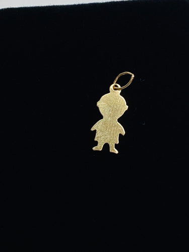 Adorable 0.37mm X 14mm 14k gold filled baby boy charm/finding sku #678