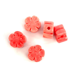 Mother Of Pearl Flower Beads, Sku#M687