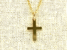14KGF Cross Charm , Sku#25-C
