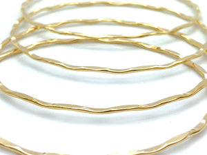 14KGF Hammered Bangles , Sku#67 MM HMM BRC